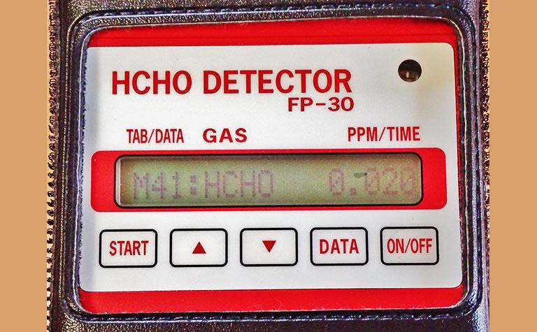 ホルムアルデヒド空気濃度簡易測定