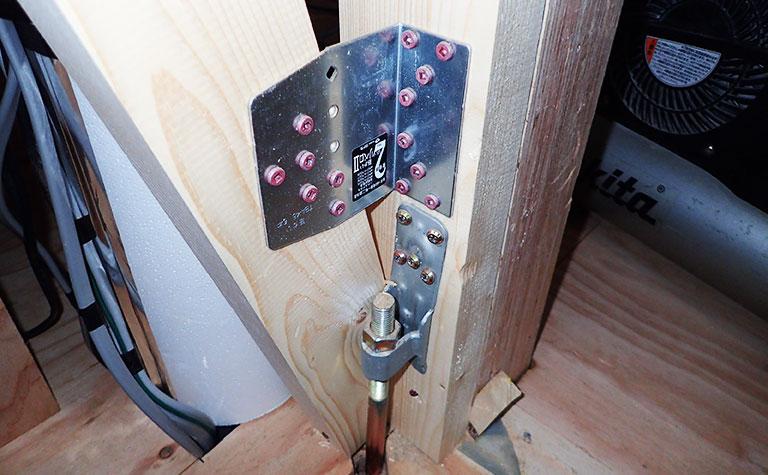 構造金物(筋交い・柱緊結)検査