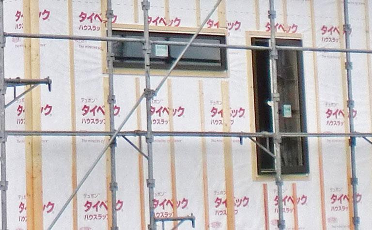 外装透湿防水紙・通気層下地施工確認