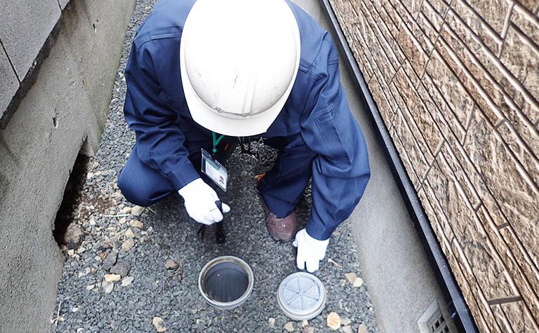設備配管の調査