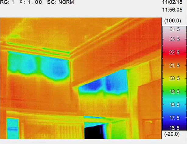 サーモカメラ赤外線装置法による断熱気密性能調査