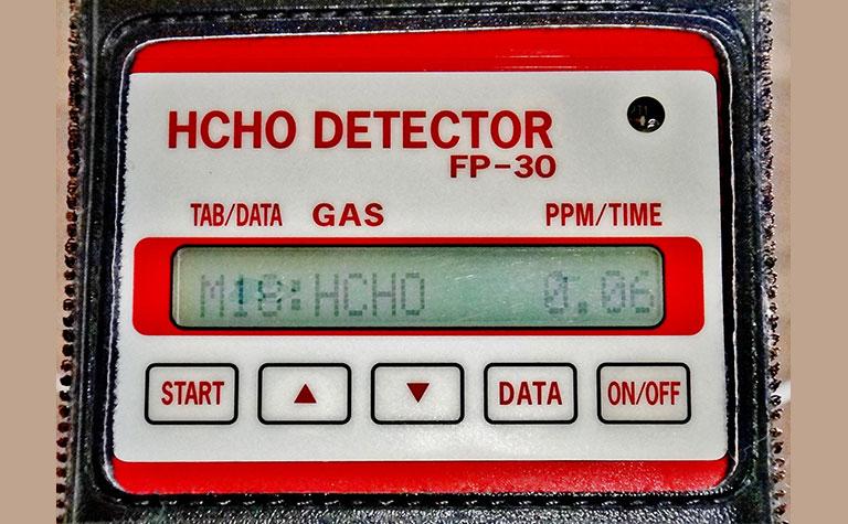 ホルムアルデヒド空気濃度測定